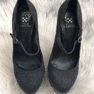 Grey Vince Camuto Mary Jane pumps